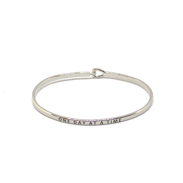 One Day At A Time Inspirational Bangle - SPREE