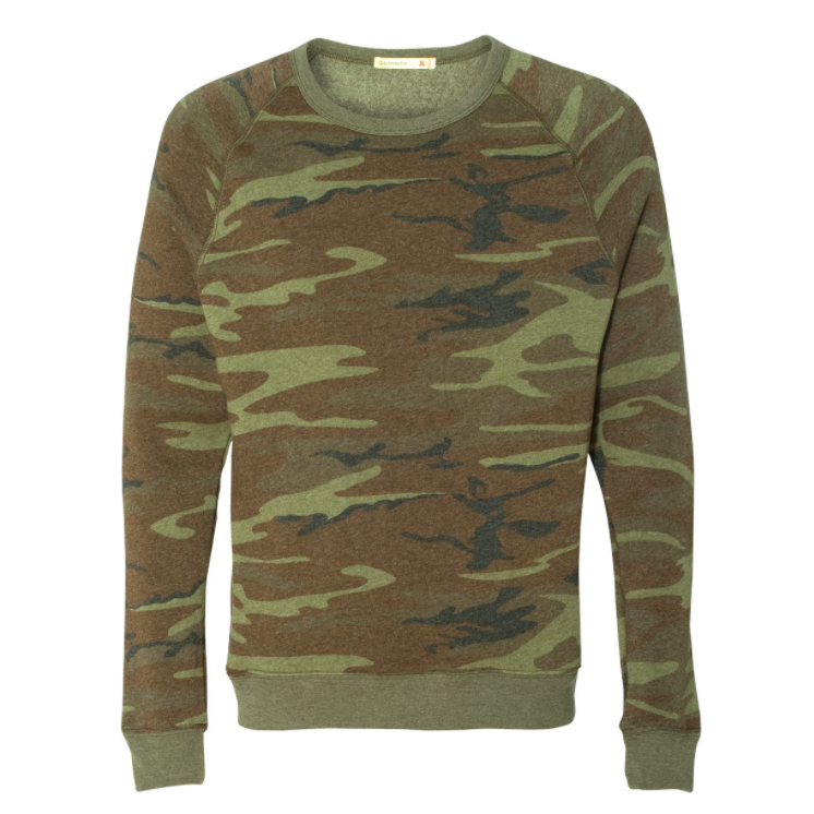 Unisex Camo Fleece Sweatshirt