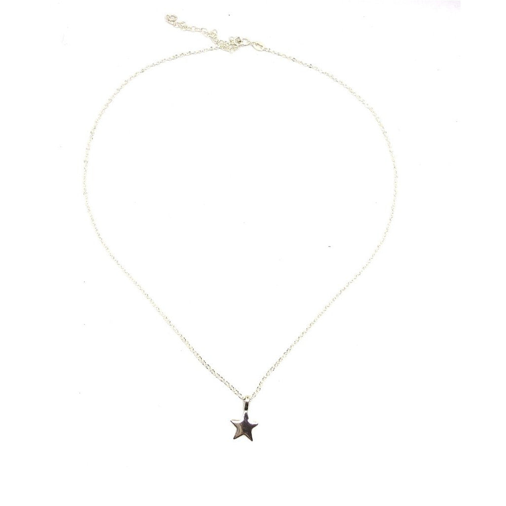 Sterling Silver Adjustable Mini Star Necklace - SPREE