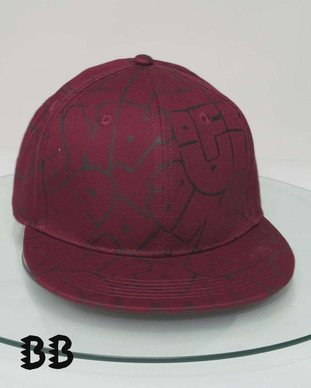 Maroon Band of Boys Bubble Logo Hip Hop Cap video rotation