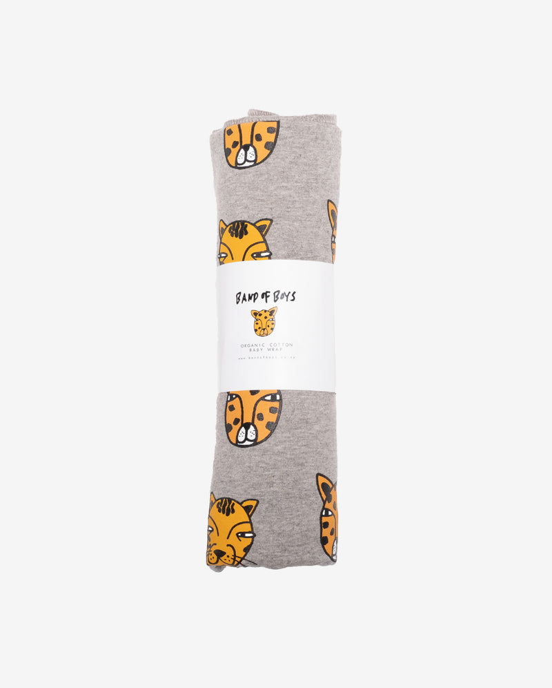 ORGANIC BABY | Cat Faces Swaddle Wrap