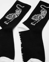 Black Band of Boys Crouching Tiger Skate Socks from The Collectibles range close up.