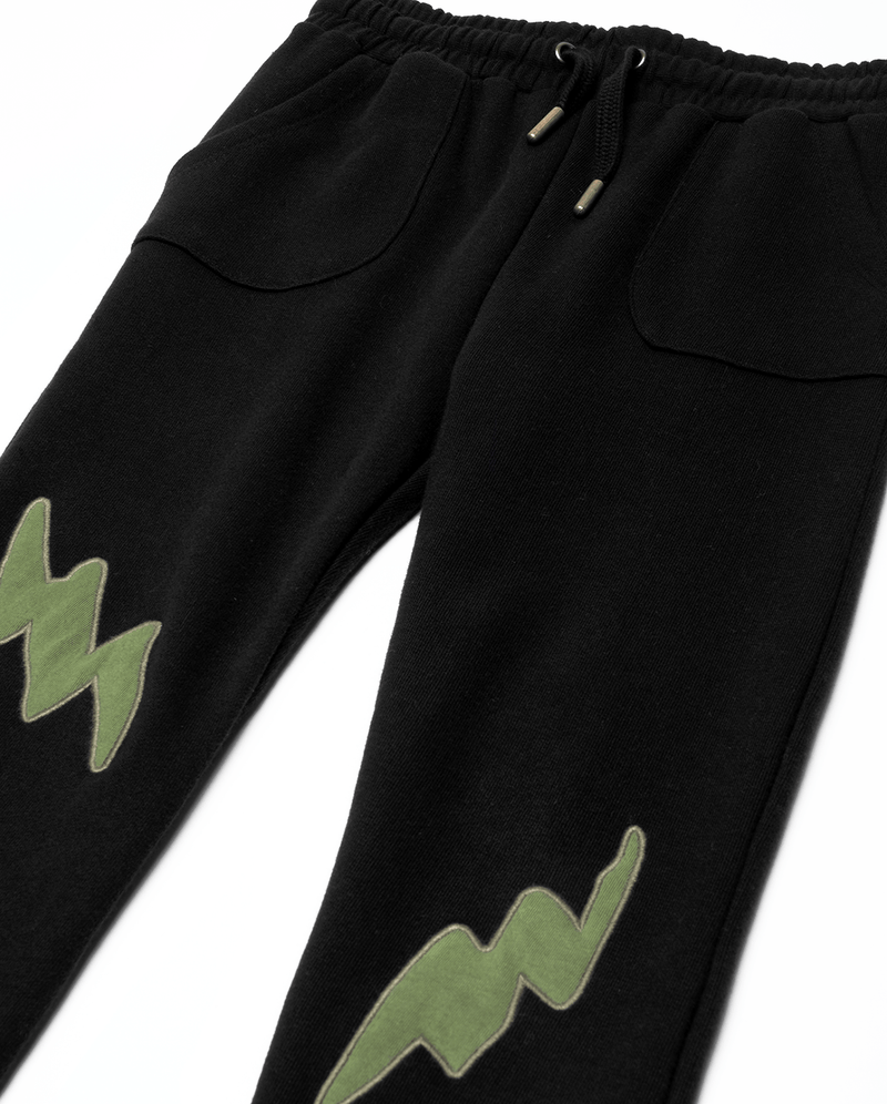 Band of Boys Double Lightning Pocket Skinny Trackies - flat lay close up