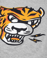 Marle Grey Band of Boys Eye of The Tiger Straight Hem Tee close up of high quality printing and material.
