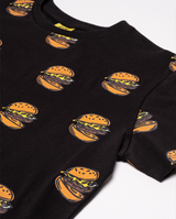 Hamburger repeat oversize tee