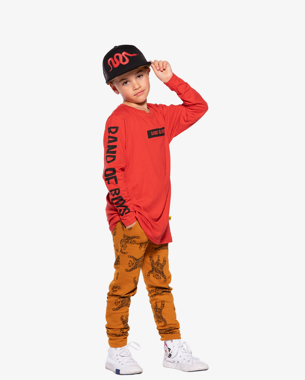 AW21 Band of Boys Logo Straight Hem Tee with Easy Tiger Trackies