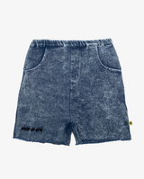 Vintage blue denim shorts - CPD denim blue boys shorts with rough hem, front pockets and elasticated waist.