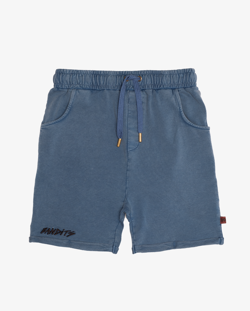 Bandits vintage blue relaxed shorts - CPD vintage blue relaxed boys shorts with front pockets and elasticated drawstring waist.