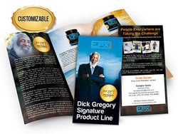 Dick Gregory Signature Product Line Brochures - Customized Large Pack