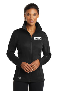 Women's EPX Body Ogio Soft Shell Jacket - White Logo