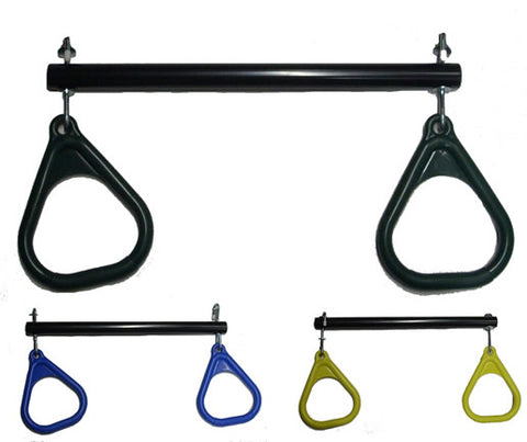 Trapeze Bar with Rings for Swing Set