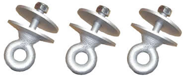 Tire Swing Eyebolts (Set of 3)