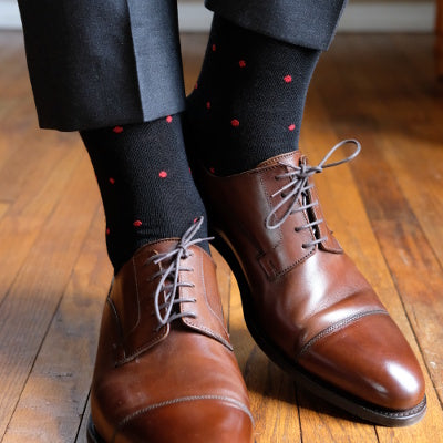 Patterned Dress Socks for Men