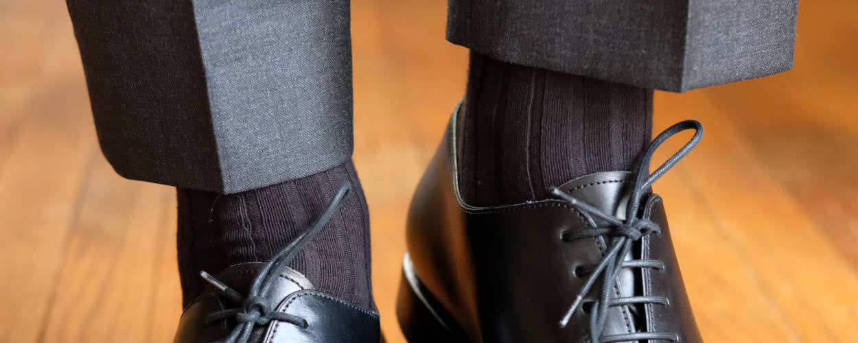 Black Dress Socks with Dark Charcoal Trousers
