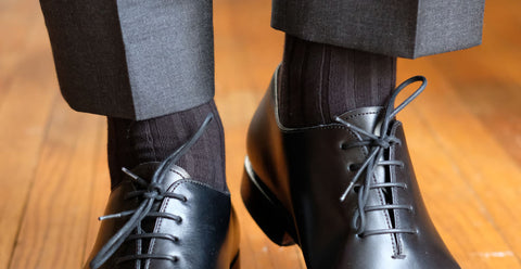 Black Dress Socks with Dark Trousers