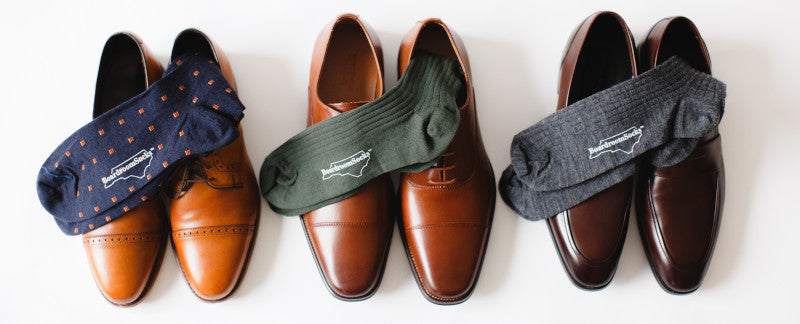 Brown Dress Shoes with Dress Socks
