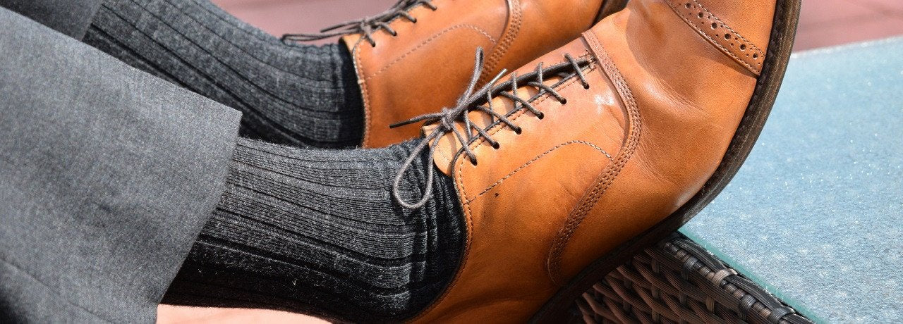 Charcoal Wool Dress Sock