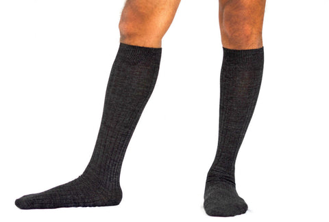Grey Over the Calf Socks