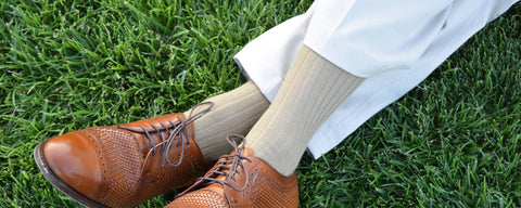 Khaki Dress Socks with Khaki Pants
