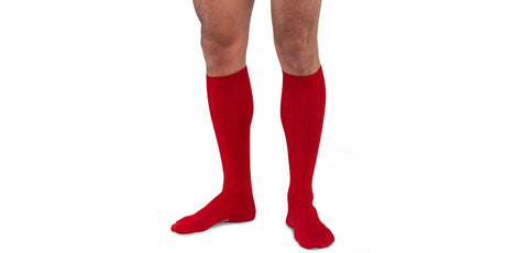 Merino Wool Over the Calf Dress Socks