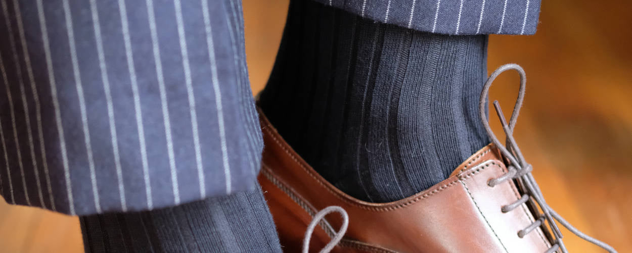 Navy Dress Socks with Navy Trousers