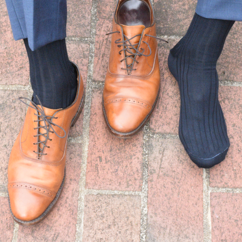 Dark Navy Dress Socks