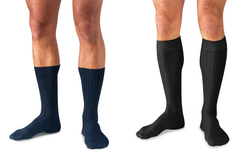 Mid Calf or Over the Calf Dress Socks