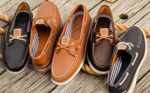 collection of men's boat shoes