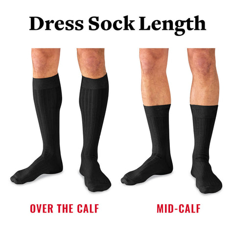 what is the best length of dress sock for men?