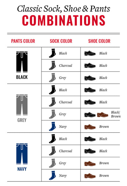 Classic ways to match socks shoes and pants