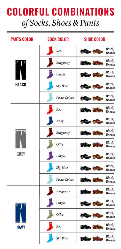 how to match colorful dress socks with shoes and pants