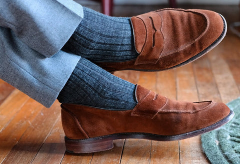 socks with loafers for men