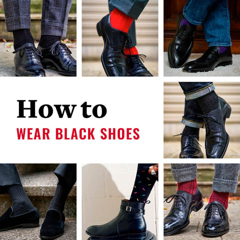 how to match sock colors with black shoes