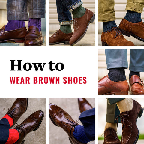 what color dress socks can be worn with brown dress shoes