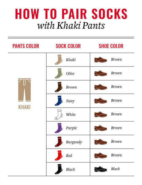 how to match socks and shoes with khaki pants