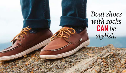 wearing socks with boat shoes can be stylish