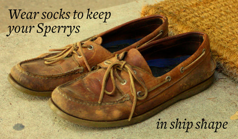 wear socks with sperrys to protect them