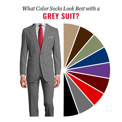 what color dress socks go with a grey suit