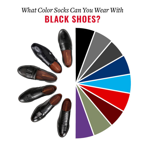 these sock colors go with black shoes