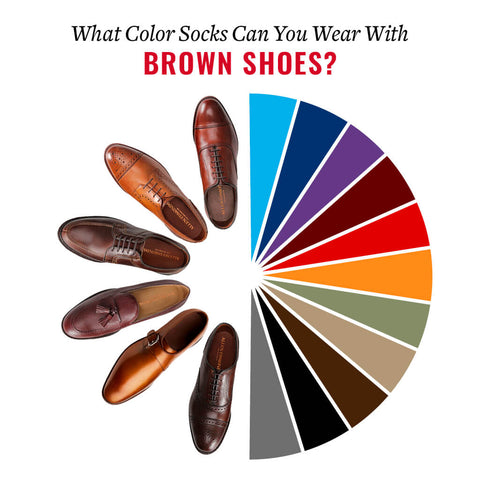 different colors of dress socks that can be worn with brown shoes