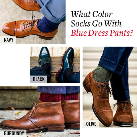 what color socks go with blue dress pants?