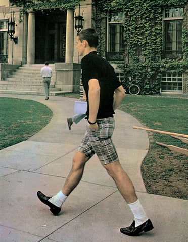 white socks with loafers