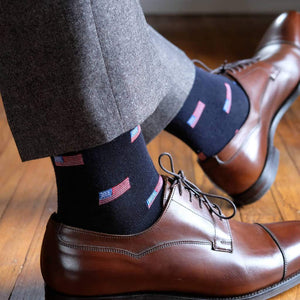 American Flag Dress Socks with Oxfords