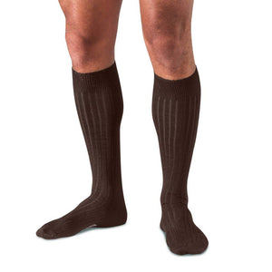 Twelve Pairs of Brown Over the Calf Merino Wool Dress Socks