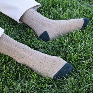 Khaki Donegal Socks with Khaki Pants