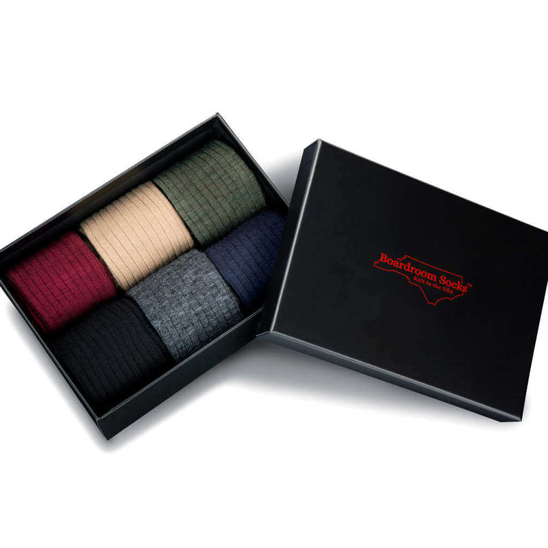 Men's Merino Wool Dress Socks Gift Box