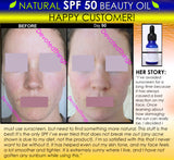 Natural SPF 50 Face Moisturizer Beauty Oil For Skin Lightening, Oily Skin Oil Control