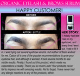 Organic Eyelash Growth Serum and Eyebrow Growth Serum Energizing 2 in 1 Product