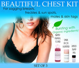 BEAUTIFUL CHEST KIT - Beautiful Chest Kit For Women For Sagging Breasts Freckles Moles Skin Tags Beauty Set Of 3