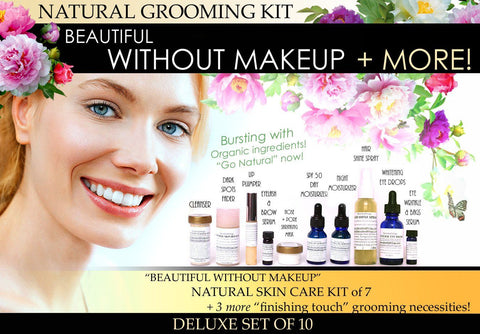 Beautiful Without Makeup Grooming Deluxe Kit - Deluxe Beautiful Without Makeup Natural Grooming Kit For Facial Features Enhancement Set Of 10
